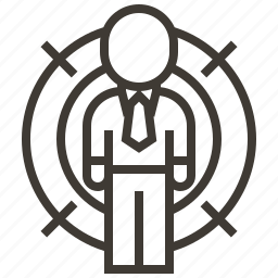 bullseye, business, goal, man, target icon