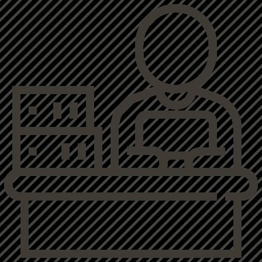 business, desk, office, paperwork, work icon