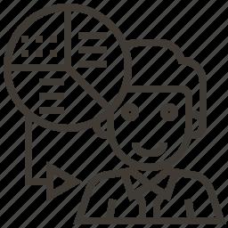 avatar, business, chart, graph, presentation icon