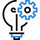 gear, idea, management, process icon
