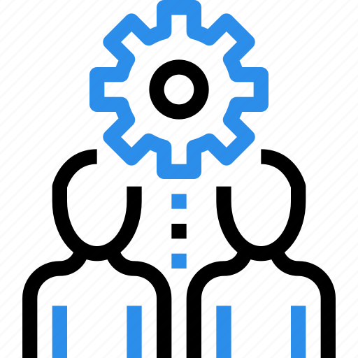 business, gear, human, management, people, process icon