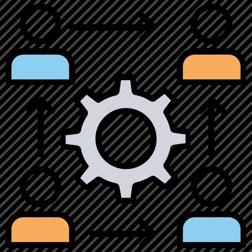 business management, business planning, business process, program management, project management icon