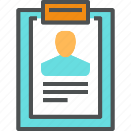 dossier, employee, hiring, hr, profile, recruitment, resume icon