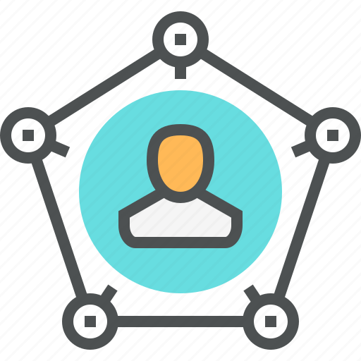 connection, contact, leader, network, networking, person, social icon