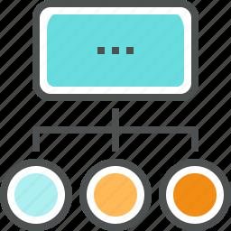 chart, flowchart, organization, plan, process, scheme, work, workflow icon