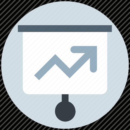 analysis, board, chart, graph, presentation, time icon