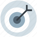 aim, ambition, arrow, business goal, dartboard, goal, target icon
