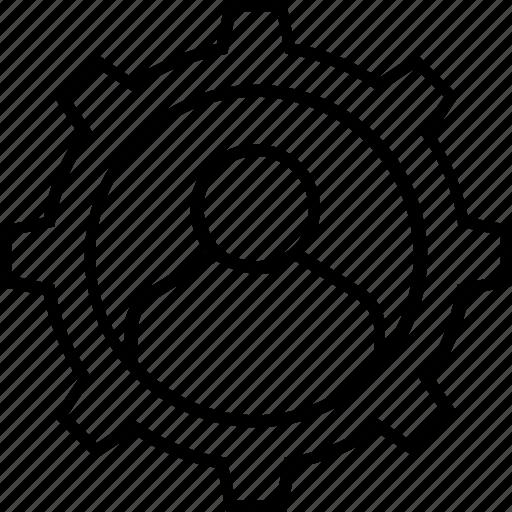 avatar, cogwheel, gearwheel, personal settings, settings icon