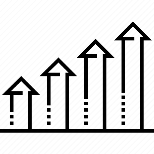 chart, graph, graph analysis, growth trends, stats icon