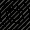beginning, cogwheel, initialization, initiator, processing icon