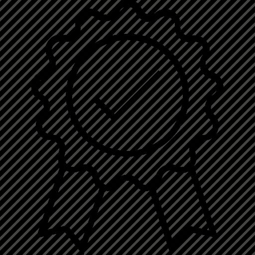 Award, badge, merit, recommendation, tick icon - Download on Iconfinder