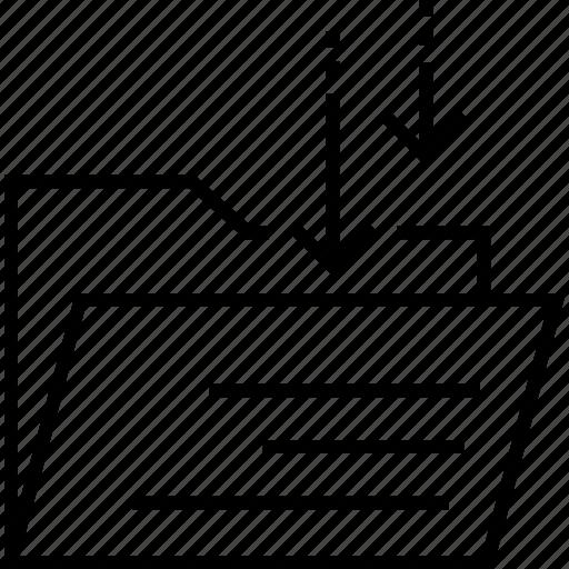 File folder, folder, documents, inbox, archives icon