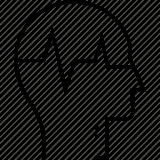 disorder, head, mental, mental disturbance, sick icon