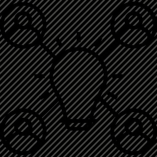 Bulb, contributor, develope idea, donor, idea, team icon - Download on Iconfinder