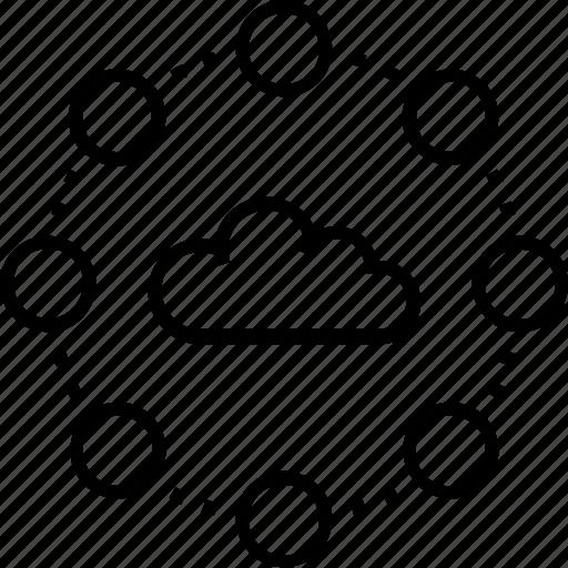 Cloud computing, affiliate, network, cloud, computing icon