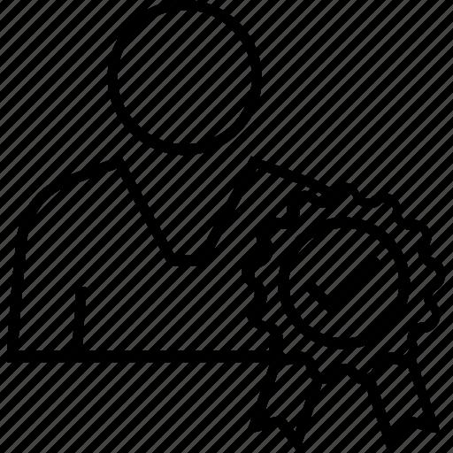 avatar, badge, behaviour, morality, success icon
