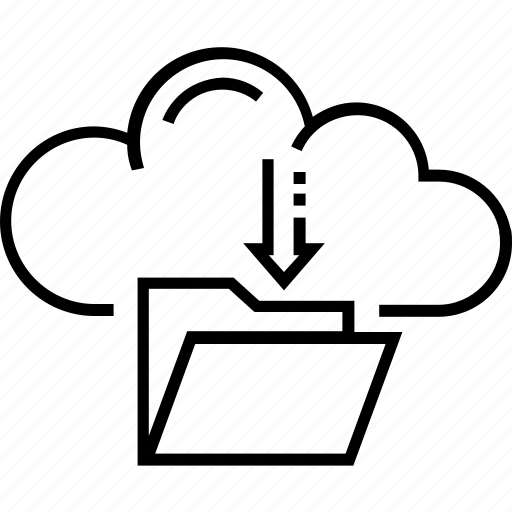 cloud computing, computing, download, file download, folder icon