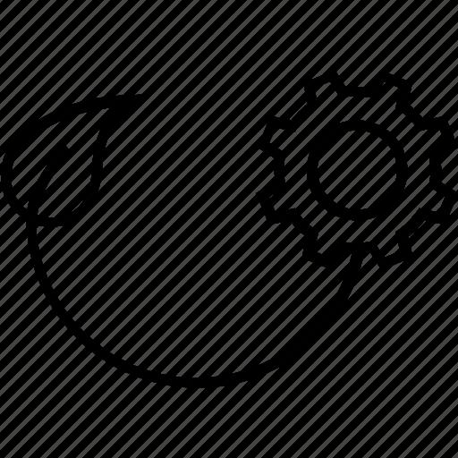 development, idea, implementation, plant, resources to implement icon