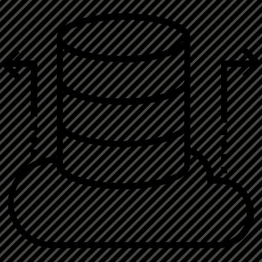 big data, data drive, rack, server, storage icon