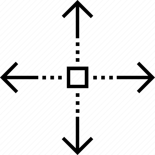 direction arrows, directional, flexibility, four arrows, pliability icon