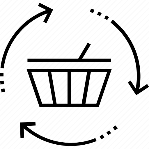 automation of sales process, basket, ecommerce, order, shopping icon