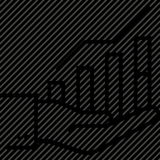 achievement, analytics, bar graph, graph, growth icon