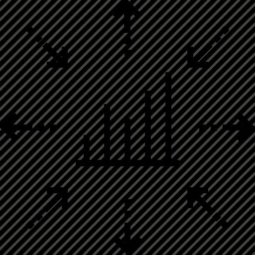 business, graph, marketing, marketing warfare, strategy icon