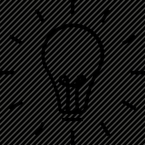 bulb, electric bulb, illumination, problem solving, solution icon