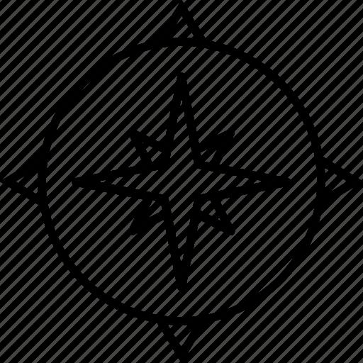 compass, direction, navigation, navigational compass, orientation icon