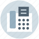 fax, fax and telephone, fax machine, paper, phone, telephone icon