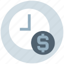 business, clock, coin, dollar, money, time