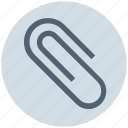 attach file, attachment, business, clip, office, paperclip icon