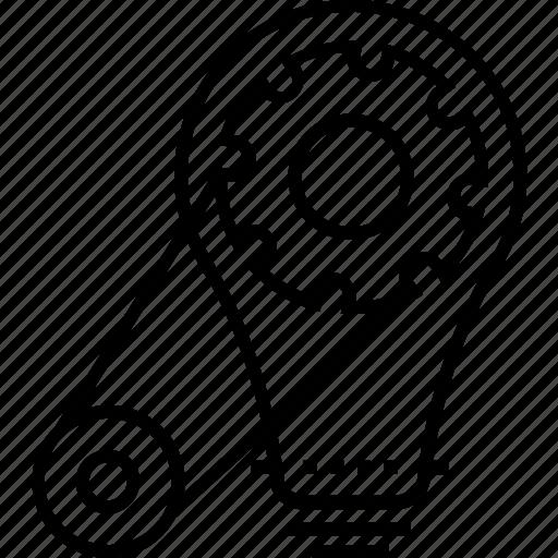 cog, cogwheel, development, generate idea, idea icon
