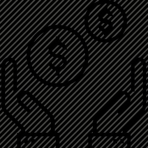 benefit, bonus, business, business benefit, dollar, interest, profit, yield icon