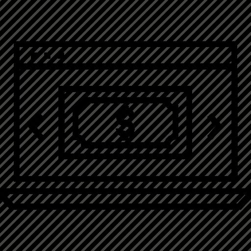 Banking, banknote, dollar, monitoring transaction, transaction icon - Download on Iconfinder