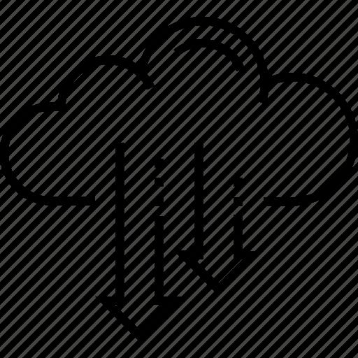 cloud access, cloud computing, cloud network, computing, server icon
