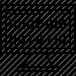 barcode, binary, binary code, logarithm, website logarithm icon