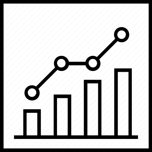 bar graph, business graph, graph, growth, statistics icon