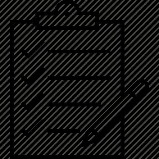 checklist, clipboard, order, query, to do icon