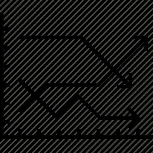 analytics, chart, forecast, graph, line graph icon