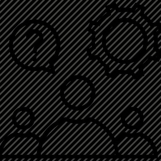cogwheel, decision management, gear, resolution, resolve icon