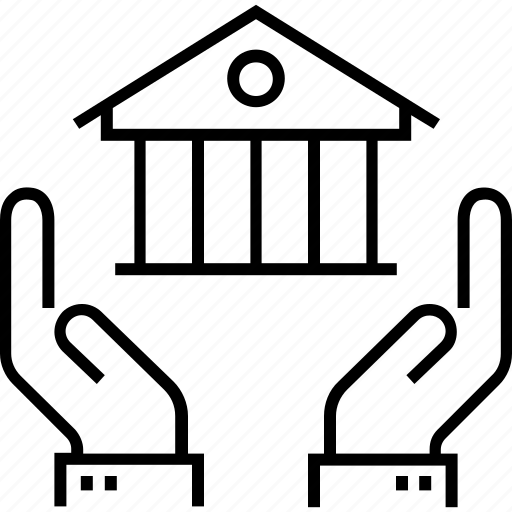 acquisition, assets, home, house, real estate icon