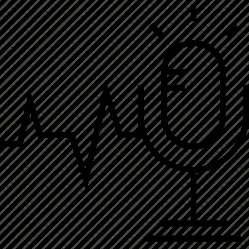 audio, mic, recording, speech, speech recognition icon