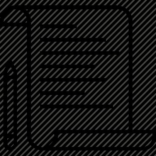notes, notice, pencil, planning, schedule icon