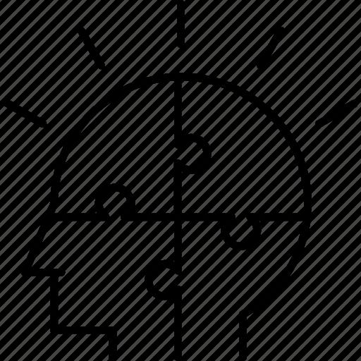 business, idea, puzzle, smart, solution icon icon