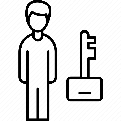 business, businessman, important, key, man, person, worker icon icon