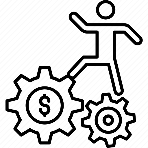 business, businessman, leadership, manager, person, run, runner, running man icon icon