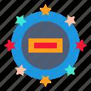 seal, stigmatize, branding, brand, impress icon