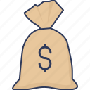 cash, bag, money, income, earnings