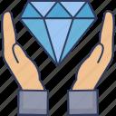 diamond, crystal, gem, stone